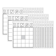 Blank Bingo Cards, White