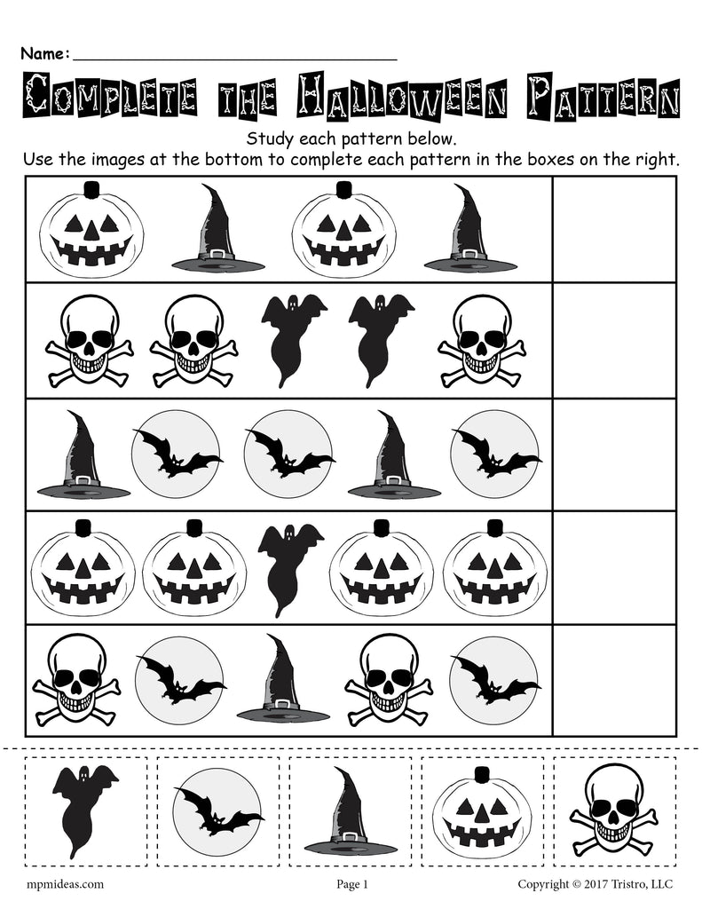 photo about Printable Ghost Pattern referred to as No cost Printable Halloween Routine Worksheet! SupplyMe