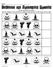 FREE Printable Halloween Pattern Worksheet!
