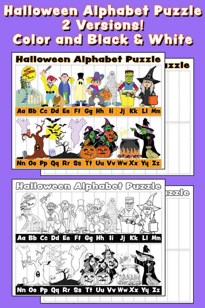 Halloween Abc Puzzle Blog X on letter s puzzle printable color