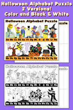 Halloween Alphabet Puzzles! (2 FREE Printable Versions)