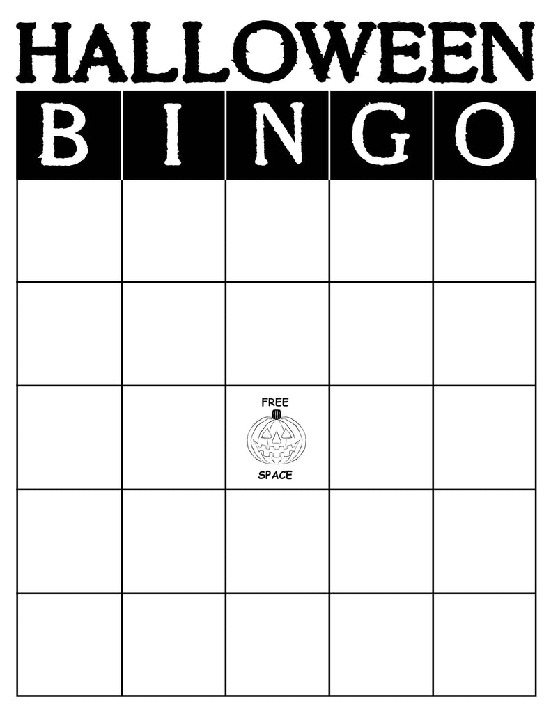 Terrible image regarding halloween bingo free printable