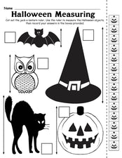 Printable Halloween Measuring Worksheet/Activity!