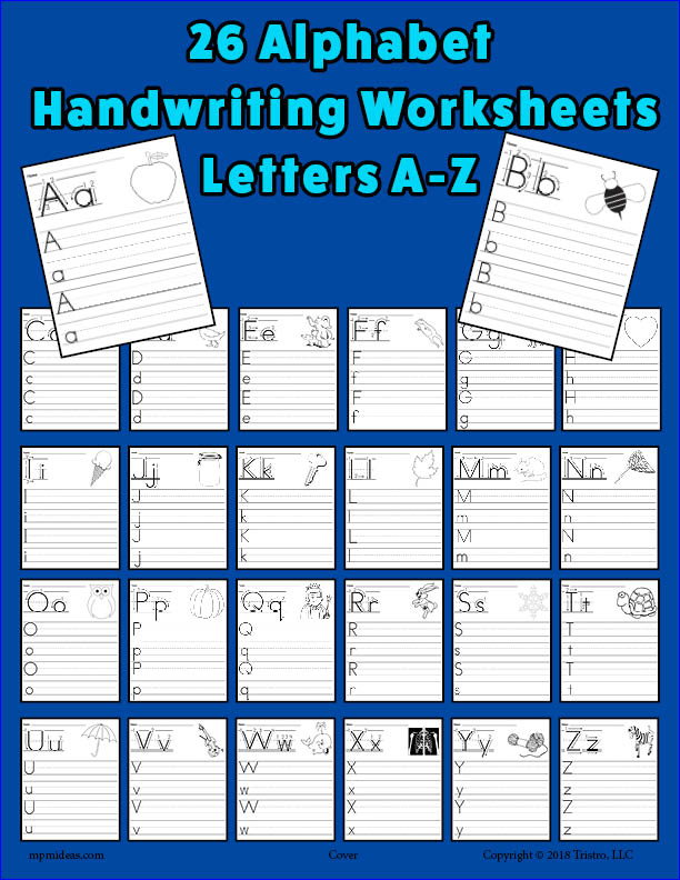 26 Printable Alphabet Handwriting Worksheets - Uppercase And Lowercase –  SupplyMe