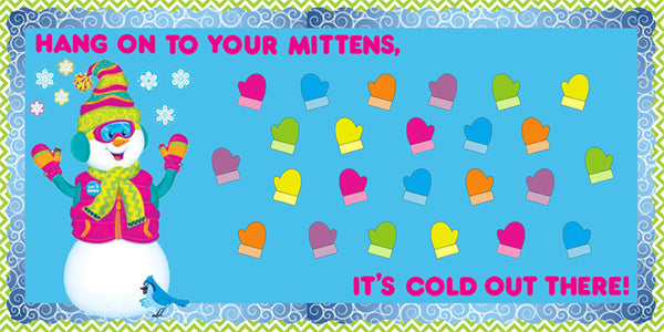 Hang On To Your Mittens Winter Bulletin Board Idea