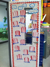Hats Off To Our Presidents! - President's Day Door Display