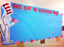 Hats Off To Valentine's Day! - Dr. Seuss Valentine's Day Board