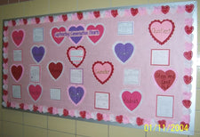 Math Conversation Hearts Valentine's Day Bulletin Board Idea