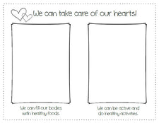 """We Can Take Care Of Our Hearts!"" Heart Health Month Activity"