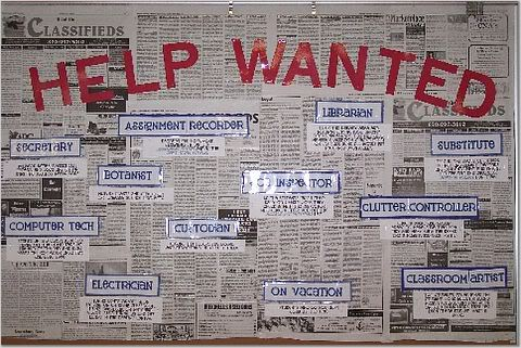 Advertising Classroom Jobs Through Want Ads Bulletin Board