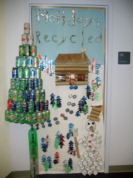 Holidays Recycled Christmas Classroom Door Decoration