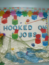"""Hooked On Jobs!"" Ocean Themed B2S Bulletin Board"