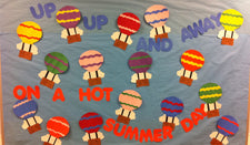 Up, Up And Away! - Hot Air Balloon Summer Bulletin Board Idea (Includes FREE Templates!)
