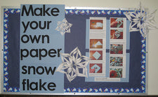 How to Make a Paper Snowflake Winter Bulletin Board Tutorial