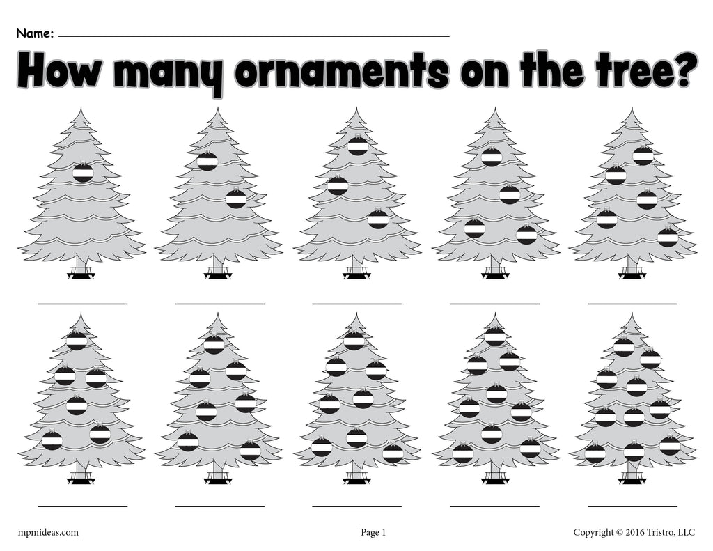 How Many Ornaments On The Tree?\