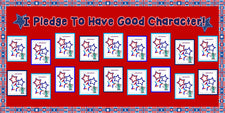 """I Pledge To Have Good Character!"" Patriotic Bulletin Board"