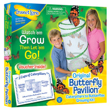 Insect Lore Original Butterfly Pavilion - Caterpillars to Butterflies Growing Kit