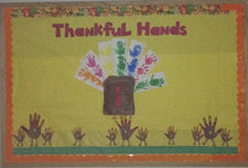 Thankful Hands! - Thanksgiving Bulletin Board