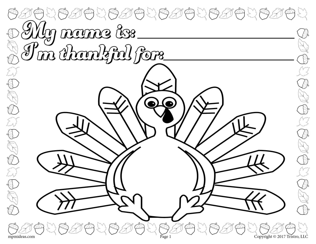 - Printable Thanksgiving Coloring Page Activity For Toddlers And