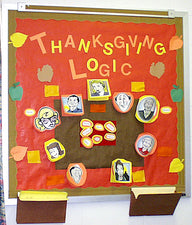 """Thanksgiving Logic!"" Interactive Holiday Math Bulletin Board"