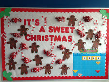 """It's A Sweet Christmas!"" Bulletin Board Idea"