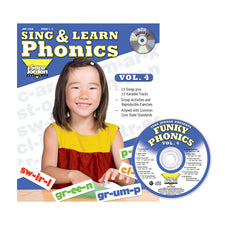 Sing & Learn Phonics, Vol. 4, Book with Audio CD