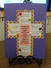 Christian Easter Craft - Jelly Bean Prayer Cross