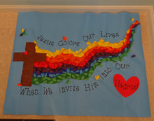Jesus Colors Our Lives! - Spring Bulletin Board