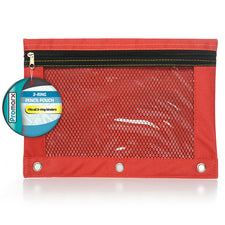 Promarx® 3-Ring Pencil Pouch with Mesh Window
