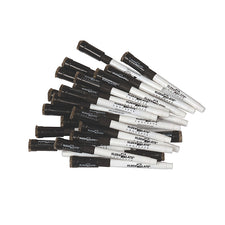 Kwik Chek II Replacement Markers 24/Pk Black With Erasers