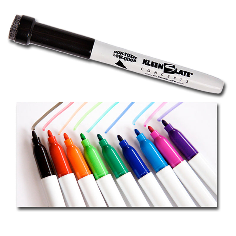 Student Markers With Erasers 10Pk Assorted Colors