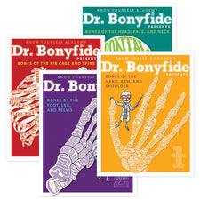 4-Book Bundle: Dr. Bonyfide Presents 206 Bones of the Human Body