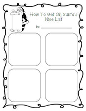 """How To Get On The NICE List"" Christmas Writing Activity"