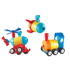 1-2-3 Build It!™ Rocket-Train-Helicopter