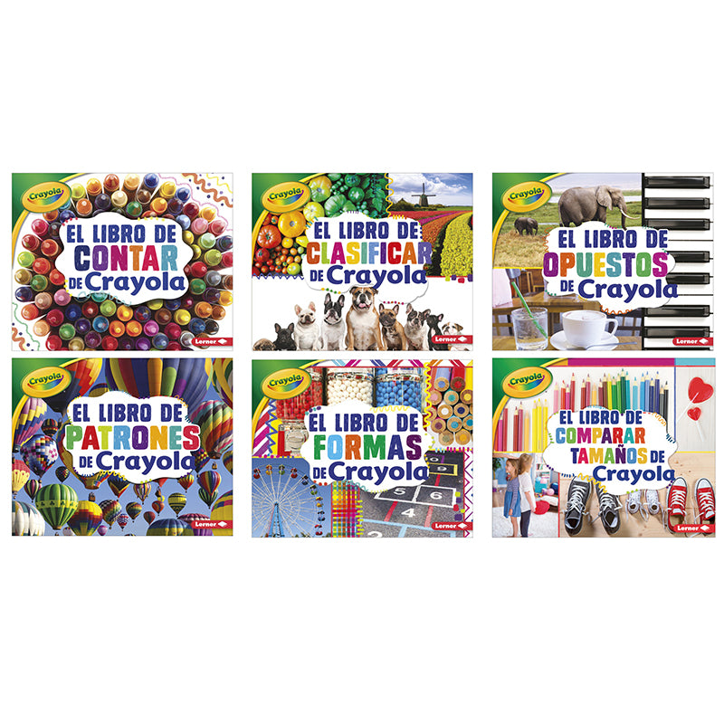 Crayola Concepts Books (Spanish), Set of 6