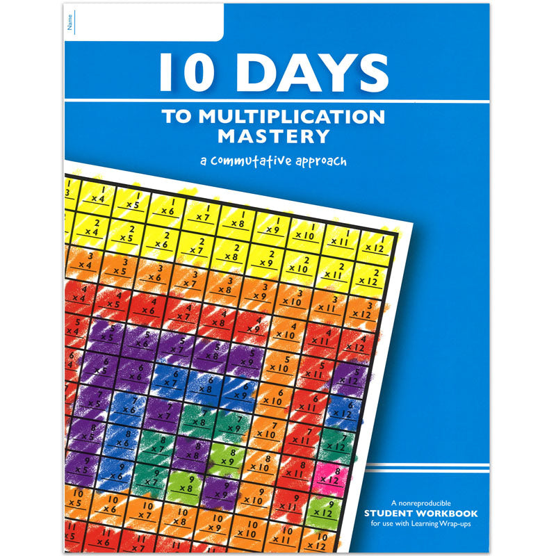 10 Days To Multiplication Mastery Student Workbook | LWU753 – SupplyMe