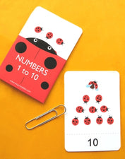 Ladybug Counting Cards for Spring!
