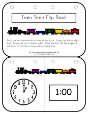 Learning To Tell Time Flip Book