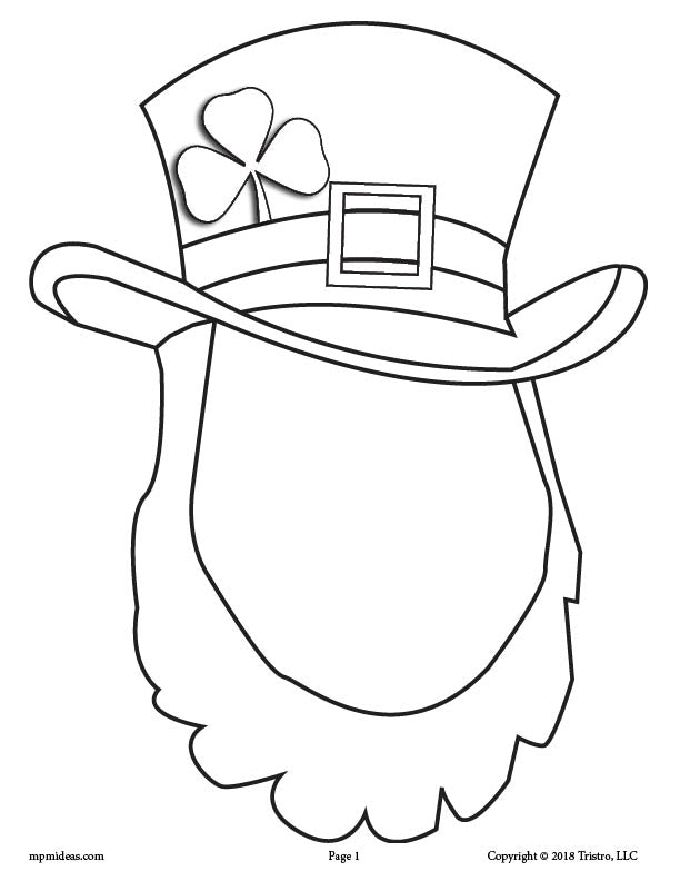 FREE Printable St. Patrick's Day Leprechaun Face Drawing Activity!