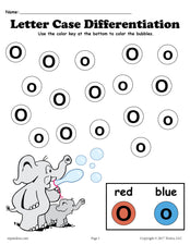 FREE Letter O Do-A-Dot Printables For Letter Case Differentiation Practice!
