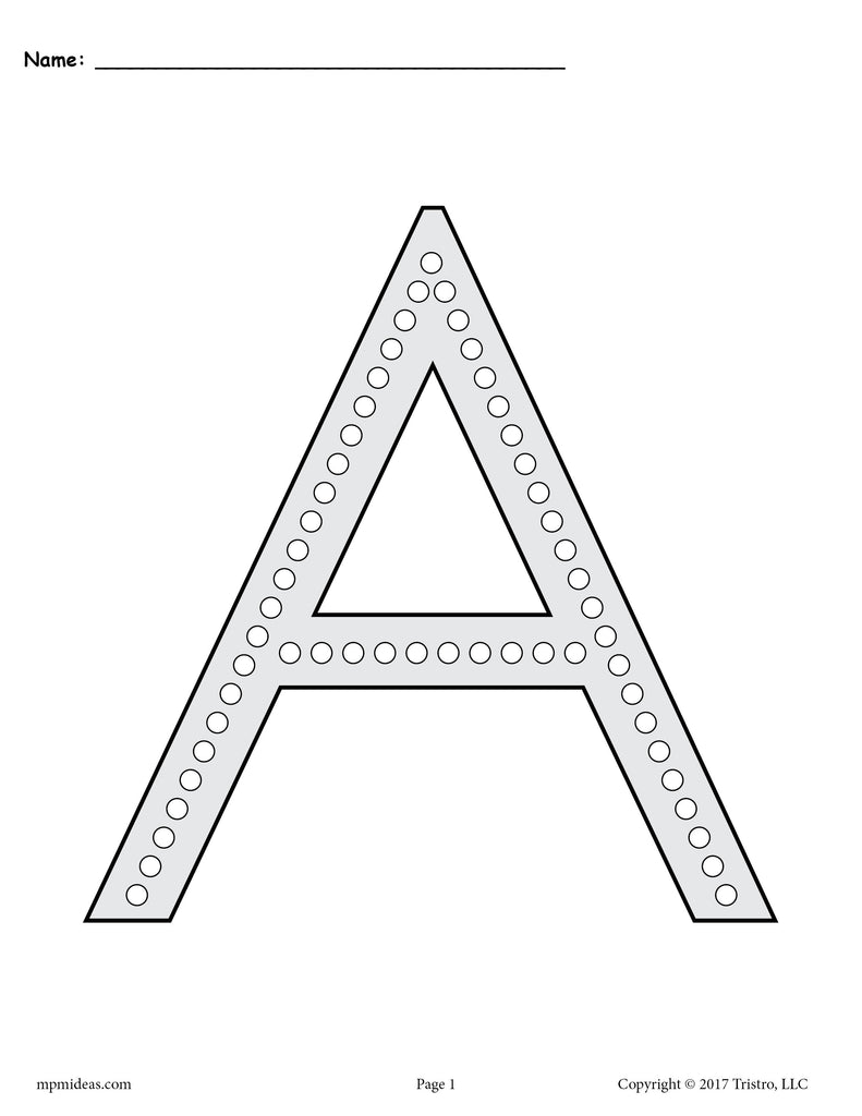 FREE Letter A Q-Tip Painting Printables - Includes Uppercase and Lowercase Letter A Worksheets