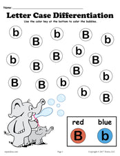FREE Letter B Do-A-Dot Printables For Letter Case Differentiation Practice!