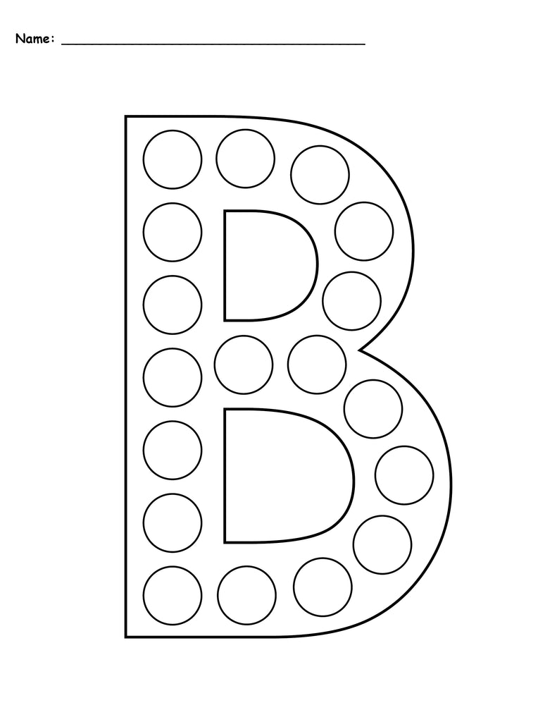 free letter b do a dot printables uppercase lowercase supplyme. Black Bedroom Furniture Sets. Home Design Ideas