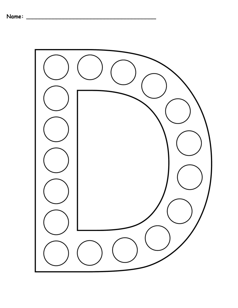 It is a picture of Versatile Printable Letter D