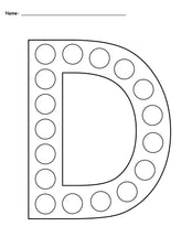 FREE Letter D Do-A-Dot Printables - Uppercase & Lowercase!
