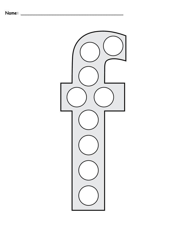 Free Letter F Do A Dot Printables Uppercase Amp Lowercase