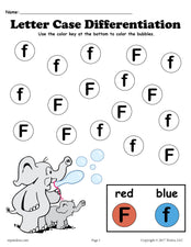 FREE Letter F Do-A-Dot Printables For Letter Case Differentiation Practice!