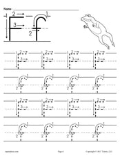 FREE Printable Letter F Tracing Worksheet With Number and Arrow Guides!