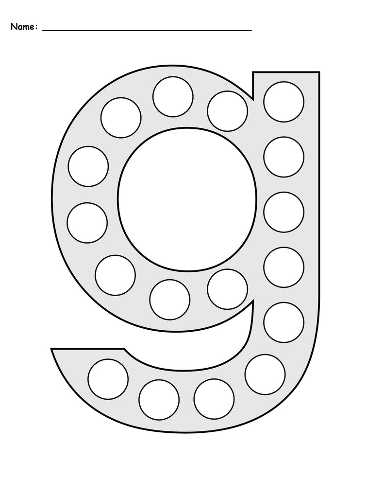 Free Letter G Do A Dot Printables Uppercase Amp Lowercase