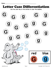 FREE Letter G Do-A-Dot Printables For Letter Case Differentiation Practice!